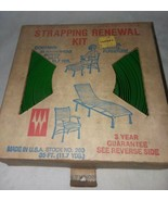 Wellington Strapping Renewal Kit Green Outdoors Furniture USA Vintage So... - $16.99