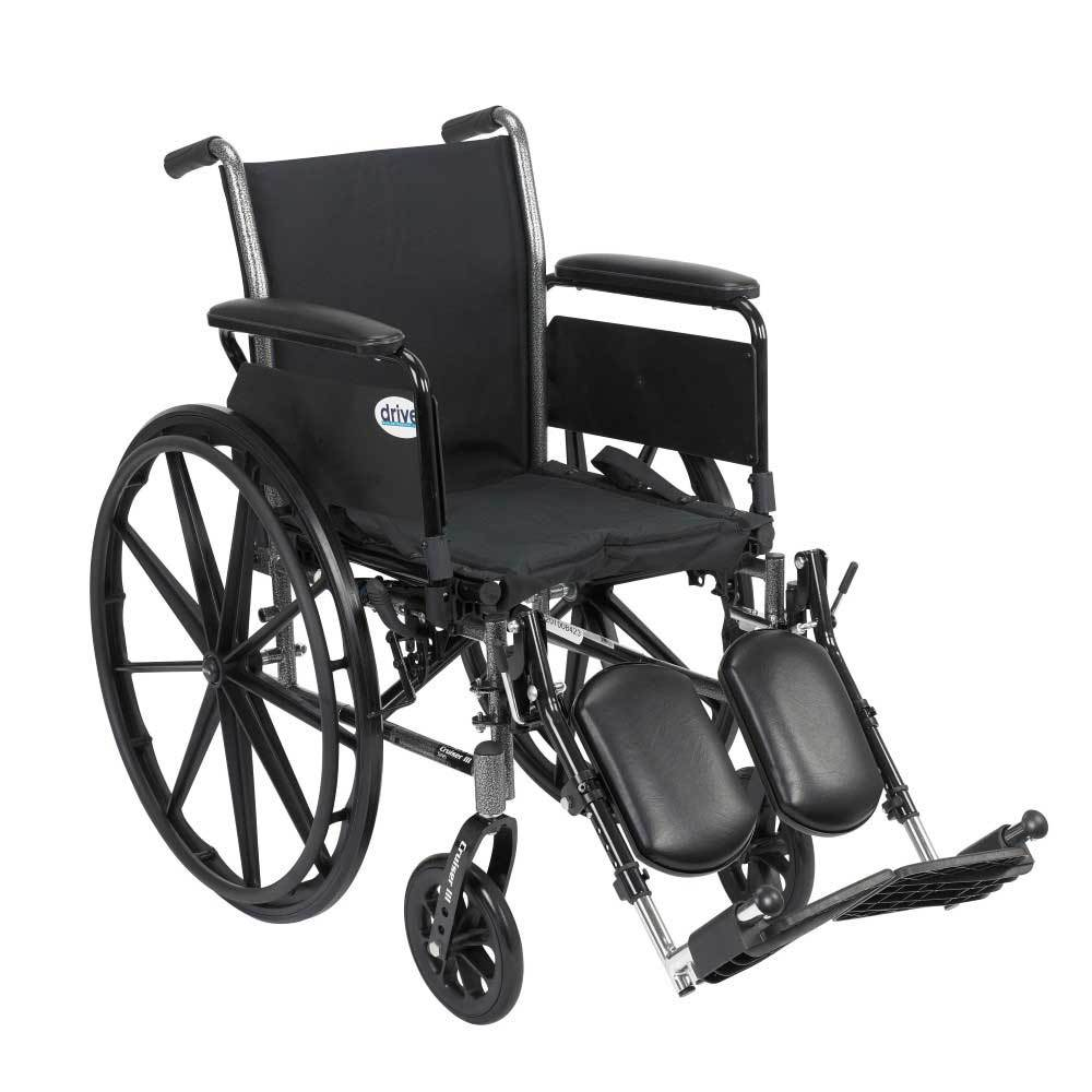 Drive Medical Cruiser III With Full Arms and Leg Rests 20''