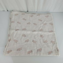 ADEN + ANAIS PINK Elephant Cotton Muslin Receiving Swaddle Baby Blanket ... - $19.79