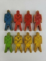 "8 Vintage 1940s ""Bill Ding"" Balancing Wood Building Clown Blocks Stackin... - $22.21"