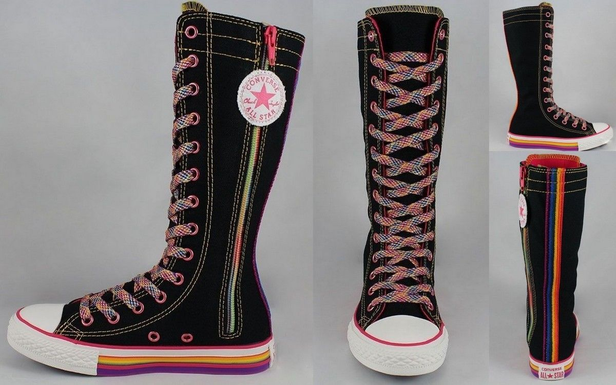 a9c150fb1f8d Converse Chuck Taylor All Star Girls  Rainbow Wrap Tall X-HI Sneaker