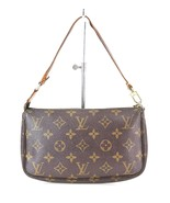 Authentic LOUIS VUITTON Accessory Pochette Monogram Hand Bag #28588 - $249.00