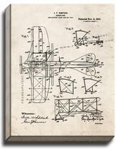 Aeroplane Patent Print Old Look on Canvas - $39.95+