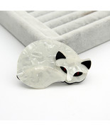 FishSheep Large Fox Cat Acrylic Brooch For Women Fashion Cartoon Plastic... - $17.67