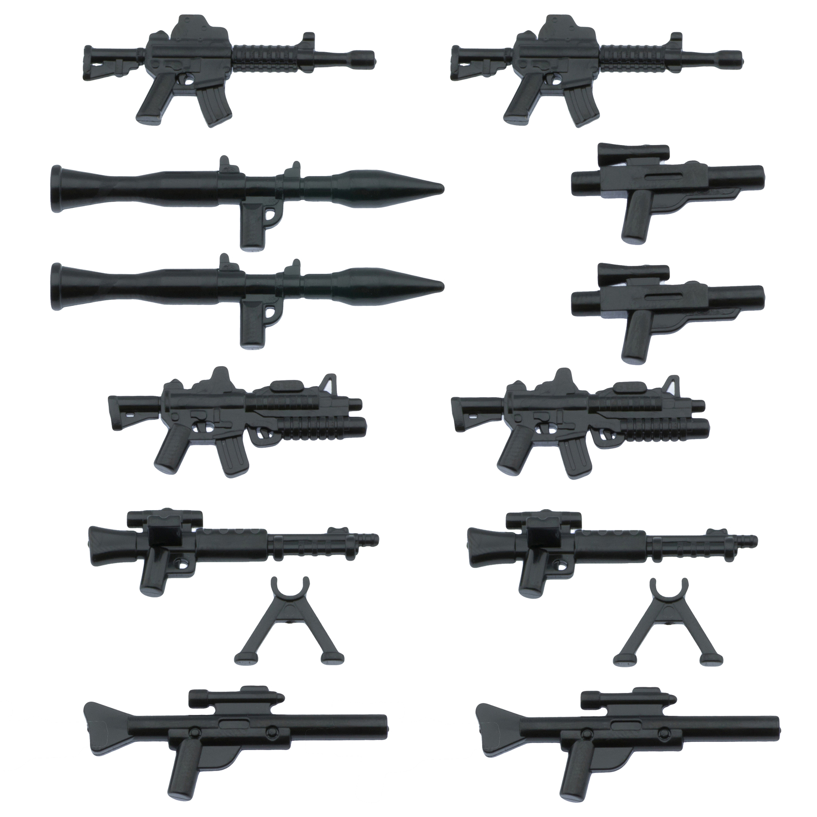 Nifigures minifig accessories weapons for lego brickarms minifigs army extras weapon pack 2 pack