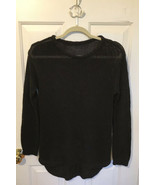 H & M Black Loose Weave Sweater Small? Round Rem Knit hm h&m - $4.92