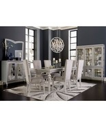 Aico Amini Melrose Plaza 9 Piece Dining Set - Table, 2 Arm, 6 Side Chair... - $3,771.00