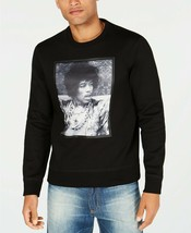 New Mens S EAN John Jimi Hendrix Graphic Print Black Sweat Shirt 3XL - $29.69
