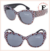 BURBERRY 4294 New Thomas Monogram Print Crystal Black Sunglasses BE4294S... - $177.21