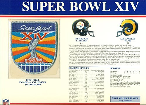 Super Bowl XIV Pittsburgh Steelers vs Los Angeles Rams at Rose Bowl