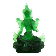 Liuli Glass Crystal Green Tara Bodhisattva Statue cs5074 - $2,800.00