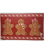 """PRINTED CUSHIONED PVC KITCHEN MAT (w/rubber back)(18""""x30"""") 3 GINGERBREAD... - $15.83"""