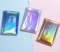 Metallic Hologram Passport Cover Clutch Business Credit Card Holder Orga... - $12.33