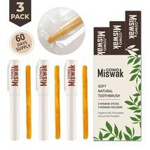 GOWO Miswak Sticks (3 Pack) 100% Natural Teeth Whitening Kit Natural Toothbrush - $13.72