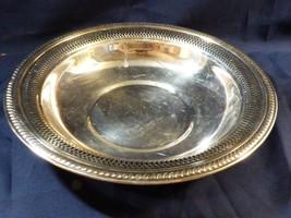 "VTG F.B. Rogers Silver Co Silver plate Pierced edge Bowl 10.5"" - $25.74"