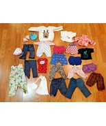 Lot of 24 miscellaneous doll clothes - $14.84