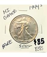 1944 S Walking Liberty Half Dollar, Hi Grade, Xtra Fine, 90% Silver,  Be... - $85.00