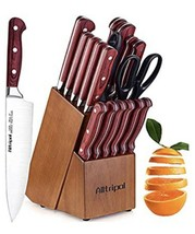 Alltripal, 18pcs, Kitchen Knife Set, German Stainless Steel Chef Knife S... - $48.85