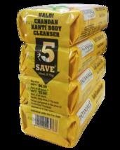 PATANJALI HALDI CHANDAN KANTI BODY CLEANSER/ BAR SOAP - (4X75) - 300gm - $21.99