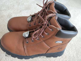 Men's Skechers Work Relaxed Fit Workshire Steel Toe Boots Brown Size 14 - £45.58 GBP