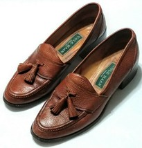 Cole Haan Loafers 7 AA Narrow Brown Leather Slip On Blocked Heels F8962 ... - $34.64