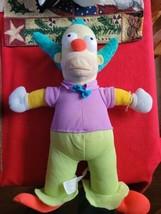 "12"" The Simpsons Krusty The Clown Plush Stuffed Doll Toy Universal Studios - $23.99"