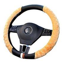 Winter Fashion Car Steering Wheel Cover Plush Anti-Skid Handlebar Set