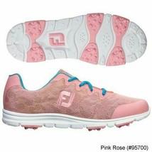NEW! FootJoy [9] Medium enJoy Women Golf Shoes 95700-Pink Rose/Blue - $108.78