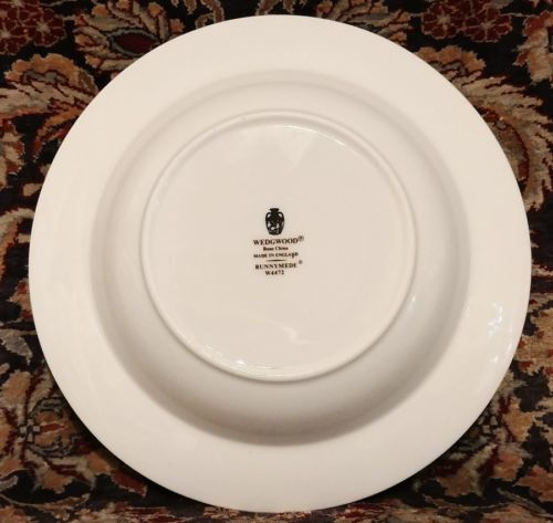 """Wedgwood RUNNYMEDE BLUE 8"""" Rimmed Soup (multiple available) image 3"""