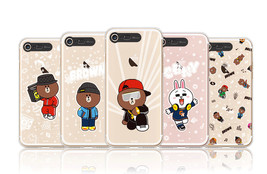 LINE Friends Beat BROWN Lighting Case V.1 iPhone 7/7 Plus Cover Mobile S... - $43.98