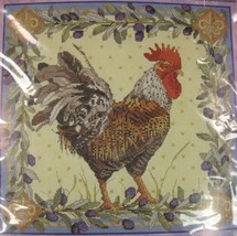 Bucilla Rooster #42978 Sealed Counted Cross Stitch Kit 12x12 Nancy Rossi Le cog - $17.95