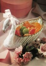 Advanced Royal Swan Candy Soap Dish Bath Mat Runner Table Topper Crochet... - $9.99