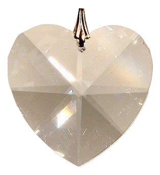Swarovski 28mm Clear Crystal Faceted Heart Prism