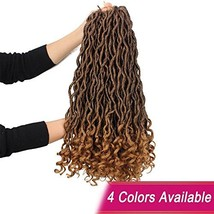 Goddess Faux Locs Crochet Hair Wavy 20 Inch with Curly Ends Blonde Ombre... - ₹2,218.47 INR