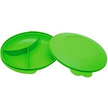 Tupperware Classic Divided Plate Green Color (Color may vary) - $17.77