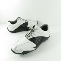 Footjoy Athletics Dj Golf Shoes 56772 Black White Leather Size 9.5 M - $31.49
