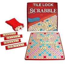Tile Lock Scrabble Crossword Family Kids Game Puzzle Brain Challenge Edu... - $30.07