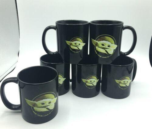 Lot of 6 Disney Star Wars Mandalorian The Child Baby Yoda Tea Coffee Mug Grogu