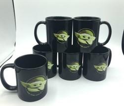 Lot of 6 Disney Star Wars Mandalorian The Child Baby Yoda Tea Coffee Mug Grogu image 1