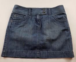 Ann Taylor LOFT Womens Jean Skirt Sz 6 Mini Short Medium Wash Denim  - $15.72