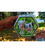 CERAMIC HAND PAINTED DAIRY COW,HOLSTEIN WALL HANGING FARMING - $14.25