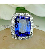2.45ct Blue Sapphire Anniversary Diamond Engagement Band 925 Sterling Si... - $101.89