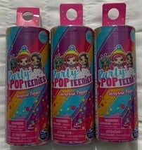 3 Party Pop Teenies Surprise Popper Doll with Confetti Series 1 Spin Master New - $16.81