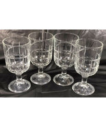"Anchor Hocking Glass Tartan Clear 6 3/4"" Water Drink 14oz Goblets LRC004 - $41.59"