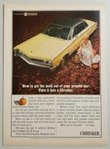 1965 Print Ad The 1966 Chrysler Newport Fairy Godmother & Pumpkins - $11.45