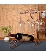 ZHEXIAOHAI Metal Wine Rack Bottle Glass Cups Holder Modern - $49.95