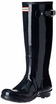 Hunter Original Tall Wellington Welly Navy Gloss Boots WFT1000RGL 7 New in Box image 2