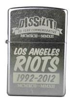 Dissizit! 20 Jahr Los Angeles Strasse Unruhen Gedenk Chrom Zippo Feuerzeug NW image 1