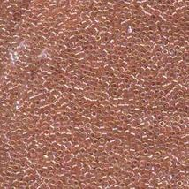 Miyuki Delica Seed Beads Mix 10/0 LINED PEACH AB 7.2 Grams DBM0054 - $7.35