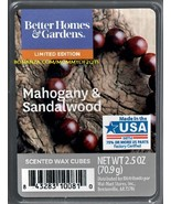 Mahogany Sandalwood Better Homes and Gardens Scented Wax Cubes Tarts Melts - $3.75